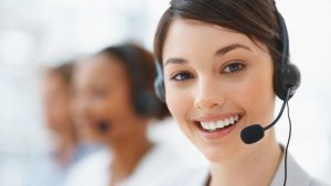 Generic stock photo contact us lady