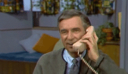 mister rogers on the phone