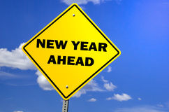 New Year Ahead street sign